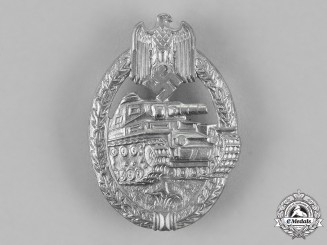 Germany, Wehrmacht. A Tank Badge, Silver Grade, by Meybauer
