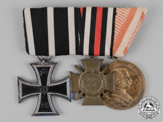 Austria, Empire. A Medal Bar of Three Medals, Awards, and Decorations to an Austrian Recipient