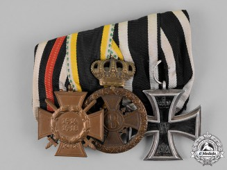 Germany, Empire. A Frack Medal Bar of Three Medals, Awards, and Decorations to a Saxon Recipient