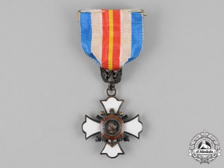 United States. A Naval and Military Order of the Spanish-American War Membership Badge