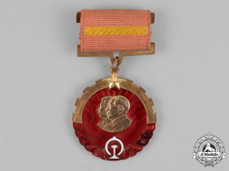 China, People's Republic. A Sino-Soviet Medal of the Chang Chun Railway Company 1952