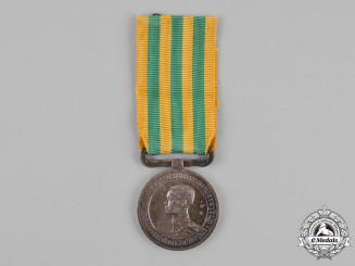 Thailand, Kingdom A King Rama VII Coronation Medal, Silver Grade