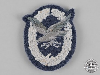 Germany, Luftwaffe. A Radio Operator Badge, Padded Cloth Version