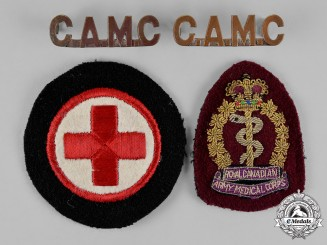Canada. Three Royal Canadian Army Medical Corps Insignia
