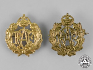 Canada. Two Second War Royal Canadian Air Force (RCAF) Cap Badges