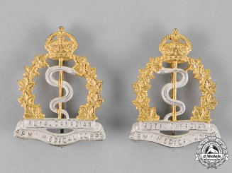 Canada. A Pair of Royal Canadian Army Medical Corps Nursing Sisters Officer's Collar Badges