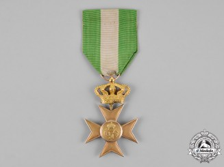 Italy, Kingdom. A Long Service Cross for Twenty Five Years' Service in Gold
