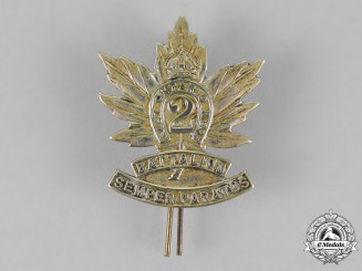 "Canada. A Post First War 2nd Infantry Battalion ""Eastern Ontario Regiment"" Militia Cap Badge, c. 1920-1936"