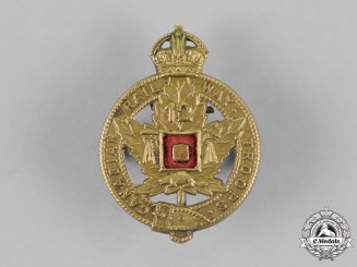 Canada. A 12th Battalion Canadian Railway Troops Other Ranks Collar Badge