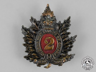 Canada. A Victorian 2nd Regiment Queen's Own Rifles Cap Badge, c.1890s