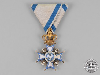 Modena, Austrian Protectorate. An Order of the Eagle of Este, Knight, c.1855