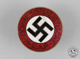 Germany, NSDAP. A Membership Boutonniere Badge, by Fritz Zimmermann of Stuttgart