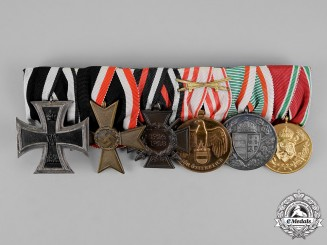 Austria, Empire. A First and Second War Austrian Patriot's Medal Bar with Six Medals & Awards