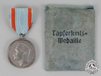 Hessen-Darmstadt. A Silver Medal for Bravery, with its Original Packet of Issue