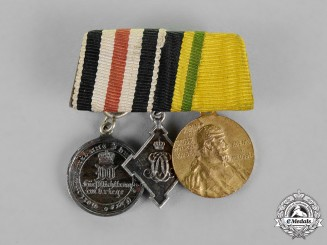 Saxony-Weimar-Seisenach. A Non-Combatant's Miniature Medal Bar