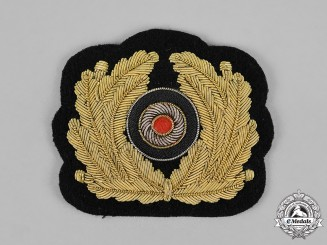 Germany, Kriegsmarine. A Mint Officer's Visor Bullion Wreath and Cockade