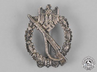 Germany, Wehrmacht. An Infantry Assault Badge, Silver Grade, by Friedrich Linden, Lüdenscheid