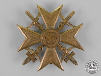Germany, Luftwaffe. A Spanish Cross, in Bronze, with Swords