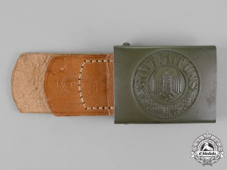 Germany, Wehrmacht. A Tropical DRK Heer Standard Issue Belt Buckle