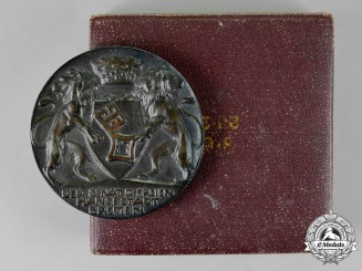 Germany. A Cased 1918 Military Sports Table Medal of the Free Hanseatic City of Bremen