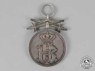 Reuss, Imperial County. A Silver Merit Medal of the Princly Reuss Honour Cross, with Swords
