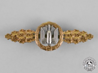 Germany, Luftwaffe. A Squadron Clasp for Bomber Pilots, Gold Grade