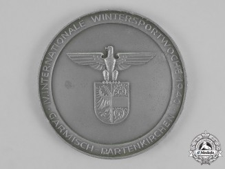 Germany. A 1940 4th International Winter Sports Ice Hockey Tournament 3rd Prize Medal