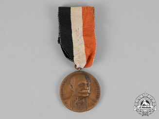 "Germany, Empire. A 1909 Zeppelin ""Good Luck"" Commemorative Medal"