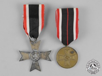 Germany. A Grouping of a War Merit Cross Second Class and Merit Medal