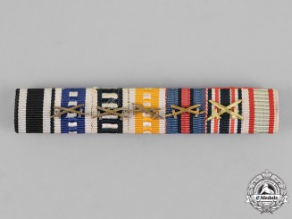 Prussia, State. A First War Veteran's Kyffhäuser League Medal Ribbon Bar