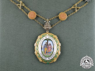 India, State of Patiala. An Order of Krishna, Collar with Badge, c.1936