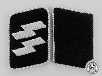 Germany. A Pair of Collar Tabs for an SS-Officer