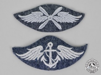 Germany, Luftwaffe. A Grouping of Two Trade Specialist Qualification Patches