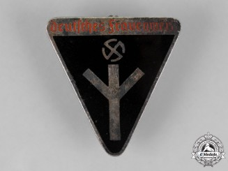 Germany. A National Socialist Women's League Membership Badge, Third Type, by Ferdiand Wagner
