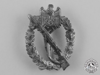 Germany, Wehrmacht. An Infantry Assault Badge, Silver Grade, Rare Variant
