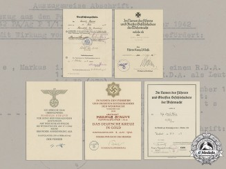 Germany, Heer. An Extensive Document Collection to Hauptmann Markus Struve (Honour Roll Clasp, DKiG)