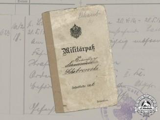 Germany, Imperial. A Militärpaß To Artillery NCO Schibrowski (EK2), 1907