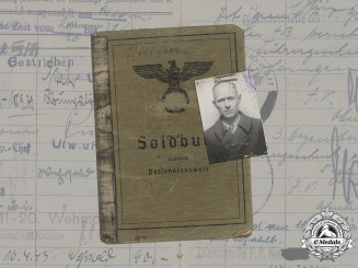 Germany, Heer. A Soldbuch to Oberfeldwebel Walter Nickisch, Railway Construction Battalion