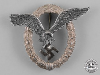 Germany, Luftwaffe. A Pilot Badge, Early Aluminum Example