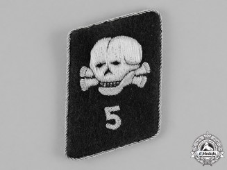 Germany, Waffen-SS. A Single Death's Head League 5th Storm Collar Tab, RZM Tagged