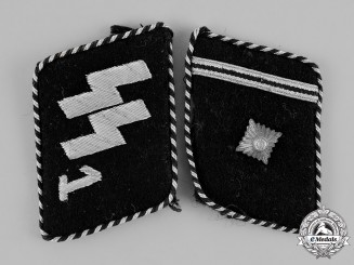 "Germany, SS. A Set of SS Scharführer Rank ""Standarte Deutschland"" Collar Tabs, Type II (1934-40)"