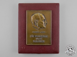 Germany. A Ritter von Epp Colonial Services Commemorative Table Medal