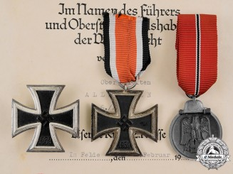 Germany, Wehrmacht. A Medal and Document Grouping to Eastern Front Veteran, Lothar Allroggen