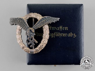 Germany, Luftwaffe. A Cased Pilot's Badge, by Berg & Nolte