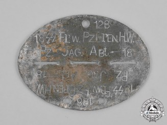 "Germany, Waffen-SS. A 18th SS Volunteer Panzer Grenadier Division ""Horst Wessel"" Identification Tag"