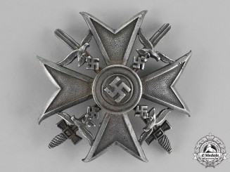 Germany. A Spanish Cross, Silver Grade With Swords