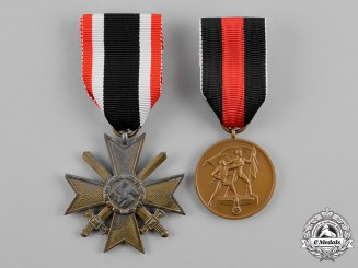 Germany, Wehrmacht. Two War Merit Medals and Awards