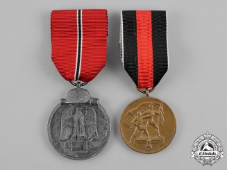 Germany, Wehrmacht. Two Commemorative Medals and Awards