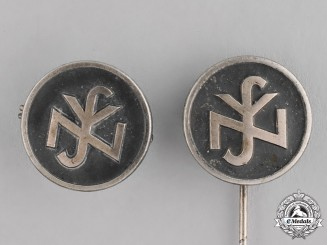 Germany, NSV. A Grouping of Two National Socialist People's Welfare Membership Insignia