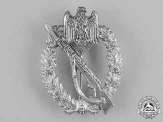 Germany, Wehrmacht. An Infantry Assault Badge, Silver Grade, by Gottlieb & Wagner